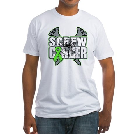 Screw Non-Hodgkins Cancer Fitted T-Shirt