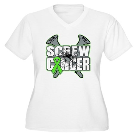 Screw Non-Hodgkins Cancer Women's Plus Size V-Neck