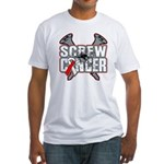Screw Oral Cancer Fitted T-Shirt