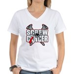 Screw Oral Cancer Women's V-Neck T-Shirt