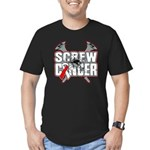 Screw Oral Cancer Men's Fitted T-Shirt (dark)