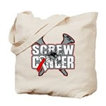 Screw Oral Cancer Tote Bag