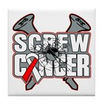 Screw Oral Cancer Tile Coaster