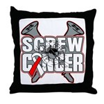 Screw Oral Cancer Throw Pillow