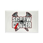 Screw Oral Cancer Rectangle Magnet (10 pack)