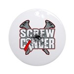 Screw Oral Cancer Ornament (Round)
