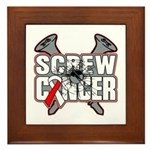 Screw Oral Cancer Framed Tile