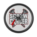 Screw Oral Cancer Large Wall Clock