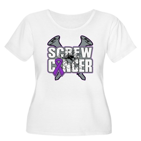 Screw Pancreatic Cancer Women's Plus Size Scoop Ne