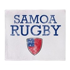 Samoa Rugby designs Throw Blanket