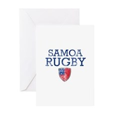 Samoa Rugby designs Greeting Card