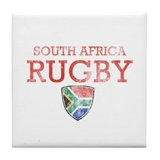 South Africa Rugby designs Tile Coaster