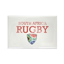 South Africa Rugby designs Rectangle Magnet (100 p