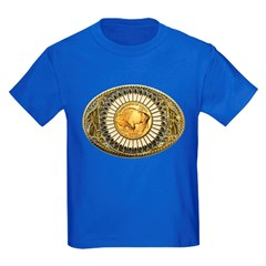 Indian gold oval 1 Kids Dark T-Shirt