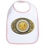 Indian gold oval 1 Bib