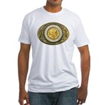 Indian gold oval 1 Fitted T-Shirt