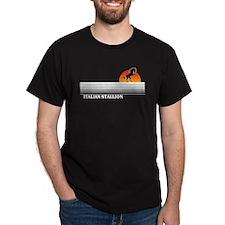 Italian Stallion Black T-Shirt