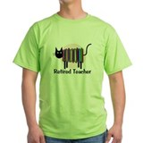Retired Teacher Book Cat.PNG T-Shirt