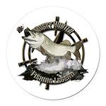 Fishing legend Round Car Magnet