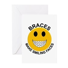 Braces Make Smiling Faces Greeting Cards (Pk of 10