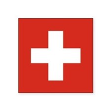 "Flag of Switzerland Square Sticker 3"" x 3&quo"