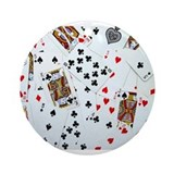 Playing Cards Ornament (Round)