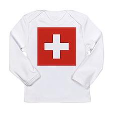 Flag of Switzerland Long Sleeve Infant T-Shirt