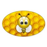 Bee Oval Decal