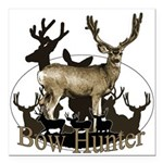 Bow hunter 4 Square Car Magnet 3