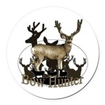 Bow hunter 4 Round Car Magnet