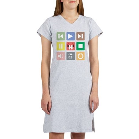 House Music Player Women's Nightshirt