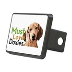 Must Love Doxies Rectangular Hitch Cover