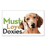 Must Love Doxies Sticker (Rectangle)