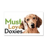 Must Love Doxies Car Magnet 20 x 12