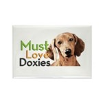 Must Love Doxies Rectangle Magnet (100 pack)