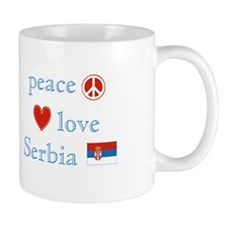 Peace Love and Serbia Mug