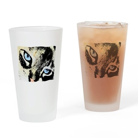 Ink Cat Drinking Glass