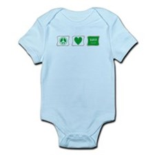 Peace Love & Saudi Arabia Infant Bodysuit