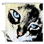 Ink Cat Shower Curtain