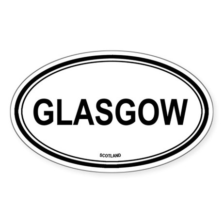 Glasgow, Scotland euro Oval Sticker