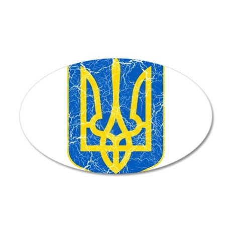 Ukraine Lesser Coat Of Arms 35x21 Oval Wall Decal