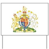 United Kingdom Coat Of Arms Yard Sign