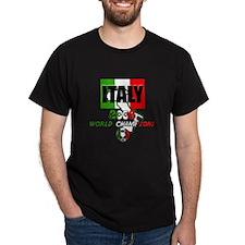 Italien Soccer Black T-Shirt