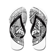 American Samoa Coat Of Arms Flip Flops
