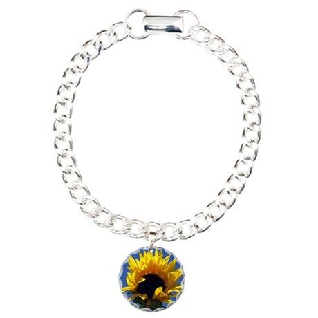 Sunflower Sunrise Charm Bracelet, One Charm