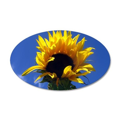 Sunflower Sunrise 35x21 Oval Wall Decal