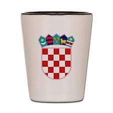 Croatia Hrvatska Emblem Shot Glass
