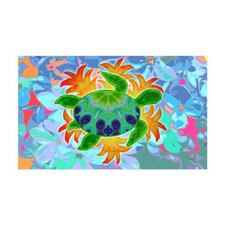 Flame Turtle 35x21 Wall Decal
