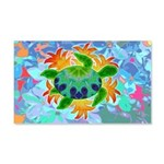 Flame Turtle 20x12 Wall Decal