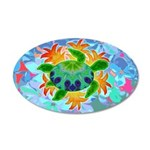 Flame Turtle 20x12 Oval Wall Decal